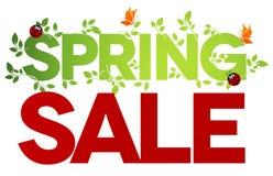 Wiosny sprzedaż odizolowywająca Obrazy Royalty Free