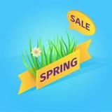 Wiosny sprzedaży isometric wektorowa ilustracja Ilustracji