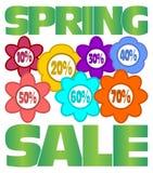 Wiosny sprzedaży reklama Zdjęcie Stock