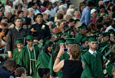 Wiosny szkoły średniej skalowania dzień, Houston Obrazy Stock