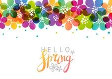 Wiosny tło z wibrującymi kwiatami zdjęcia stock
