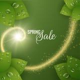 Wiosny wektorowy tło z błyszczącą spiralą Zdjęcia Royalty Free