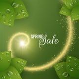 Wiosny wektorowy tło z błyszczącą spiralą Zdjęcia Stock
