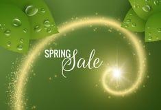 Wiosny wektorowy tło z błyszczącą spiralą Obraz Royalty Free