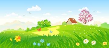 Wiosny wieś royalty ilustracja
