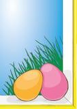 Wiosny Wielkanocna karta Zdjęcia Royalty Free