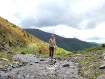 Wiosny woda w górach Obrazy Royalty Free