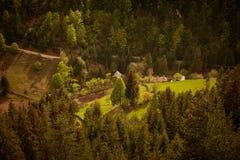 Wiosny wsi krajobraz Zdjęcia Stock