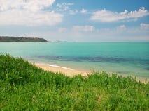 Wiosny wybrzeże na morzu Zdjęcia Royalty Free