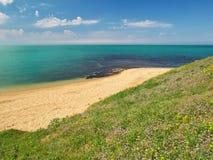 Wiosny wybrzeże na morzu Obrazy Royalty Free
