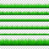 Wiosny zielona trawa graniczy set odizolowywającego na przejrzystym backg Obraz Royalty Free