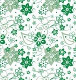 Wiosny zielony kwiecisty bezszwowy Fotografia Royalty Free