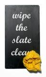 wipe чистого шифера Стоковая Фотография