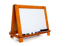 Wipe board with markers and copy space Stock Image