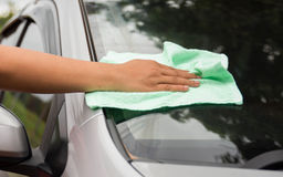 wipe the car Royalty Free Stock Photo