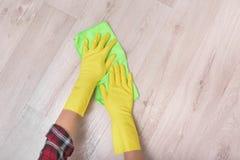 Wipe the floor rag. royalty free stock photos