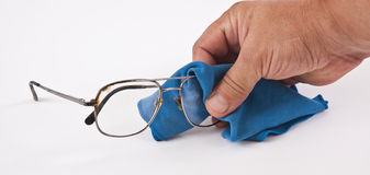 We wipe glasses Royalty Free Stock Images