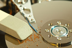 Wipe hard disk Stock Images
