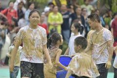 Wipe mud activity Stock Photography