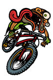 Wipe out guy. Mountain Biker wipe out stock illustration