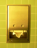 Wipe your Hands. A modern toilet tissue holder in stainless steel Stock Image
