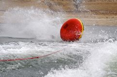 Wipeout. A tube wiping out while being puller behind a boat Royalty Free Stock Photo