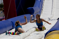 Free Wipeout 5K Run Obstacles Course - Happy Endings Royalty Free Stock Image - 55540986