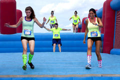 Free Wipeout 5K Run Obstacles Course - Sky S The Limit Royalty Free Stock Images - 55540899