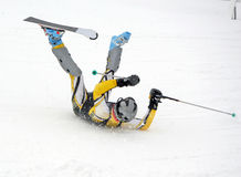 Wipeout de ski images libres de droits