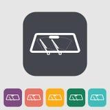 Wiper car single icon. Stock Photography