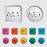 Wiper car single icon. Stock Image