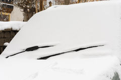 Wiper windshield snow Stock Images
