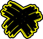 Wiper_x_black_yellow_hs Stock Photos