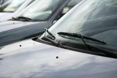 Wipers and cars Royalty Free Stock Images