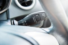 Wipers control on-off speed of screen wipers incar Royalty Free Stock Images