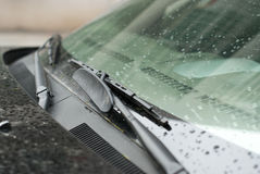 Wipers. Two wipers on a car Royalty Free Stock Photography