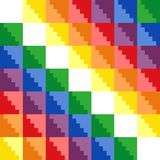 Wiphala. Modified flag of the Incan Empire. The pattern is made in the traditional style of the Nazca tribe. Each color has its own separate layer Stock Photo