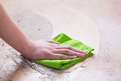 Wiping dirty floor Royalty Free Stock Photos