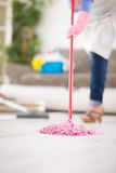 Wiping floor in action royalty free stock photos