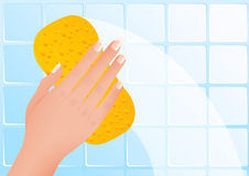 Wiping hand Royalty Free Stock Images