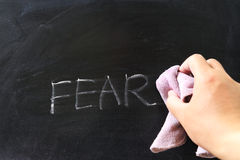 Wiping off fear Stock Images