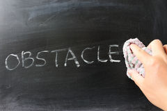 Wiping off obstacle Stock Images