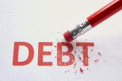 Wiping out debt Royalty Free Stock Photography