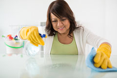 Wiping table Stock Photo