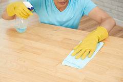 Wiping table Royalty Free Stock Photo