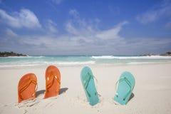 Wipschakelaars bij het strand Stock Foto's
