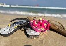 Wipschakelaars op het strand Royalty-vrije Stock Foto