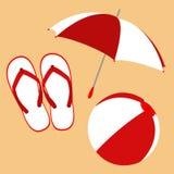 Wipschakelaars, paraplu en bal Stock Foto's