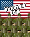 wir Dichtungs- und Fahnenillustrationsentwurf Militär Vereinigter Staaten gegen Hintergrund von Amerika Stockbilder