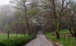 Żwir droga przez gór Obraz Royalty Free